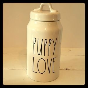 Rae Dunn PUPPY LOVE treat jar HTF